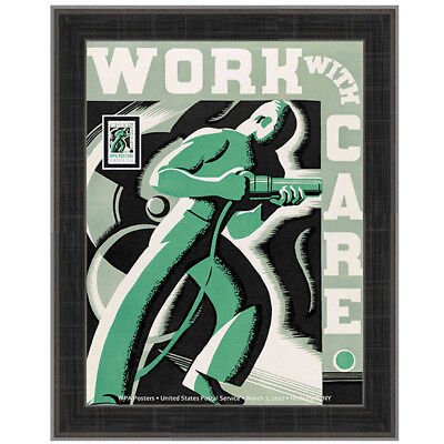 USPS New WPA - Work with Care Framed Art