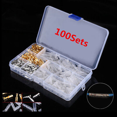 100Pc Motorcycle Wiring Harness Loom Bullet Connector Brass 3.9mm Electrical Kit