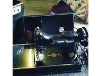Vintage miniature singer sewing machine