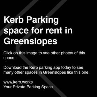 $10/day parking GREENSLOPES. Book via the Kerb App.