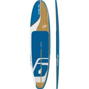Level 6 sup -10.6 ft board in blue/ bamboo or hibiscus/bamboo