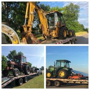 Flatbed Float Transport Backhoe Tractors Equipment
