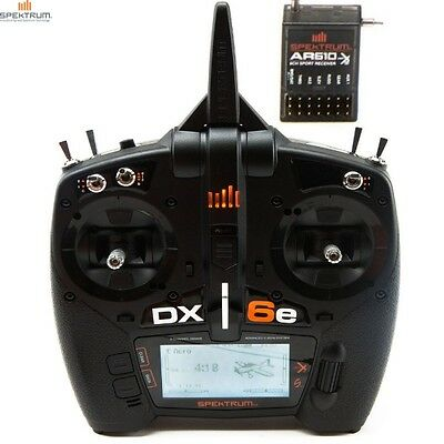 Spektrum Spm6650 Dx6e 6 Channel Dsmx Transmitter Radio With Ar610 Receiver