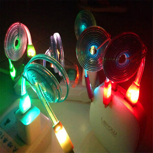 LIGHT UP LED MICRO USB DATA CABLE CHARGER FOR HTC LG SAMSUNG SON Regina Regina Area image 1