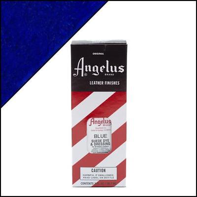 Angelus BLUE Suede Dye 3 oz. with Applicator for Shoes Boots Bags NEW Crafts