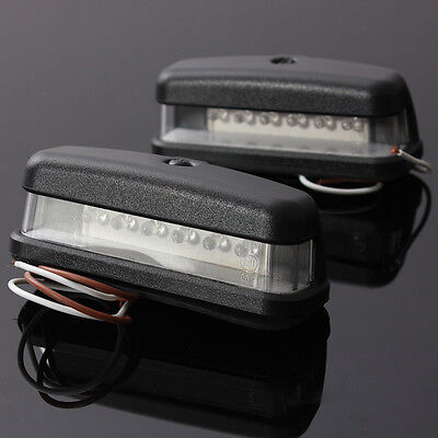 2 X 6 LED REAR LICENSE NUMBER PLATE LIGHT LAMP TRUCK CARAVAN TRAILER 12v 24V