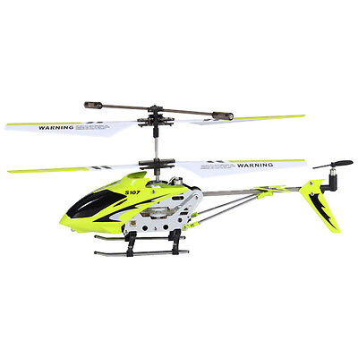 Genuine SYMA S107G 3.5CH w/ GYRO Mini Remote Control RC Helicopter Yellow Green on Rummage