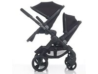 iCandy Peach 3 Blossom Twin Double Pushchair / Pram in Jet Black