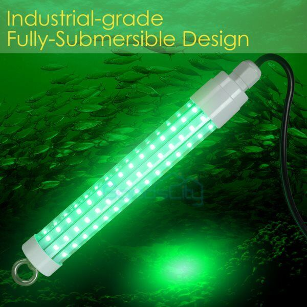 12v Waterproof 50000LM 120 LED GREEN UNDERWATER SUBMERSIBLE NIGHT FISHING LIGHT