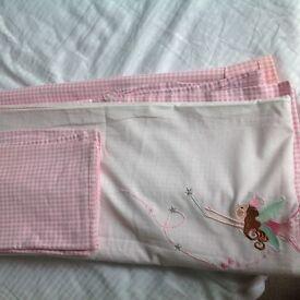 Girls pink single duvet set with matching pillowcase