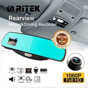 NEW FREE SHIPPING - Ritek Full HD 1080 CRMT 01 Rearview Mirror + Southport Gold Coast City Preview