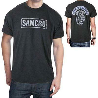 Sons Of Anarchy Patches (Sons Of Anarchy SAMCRO SOA Reaper Patch Licensed Men's Biker T-Shirt Dark)