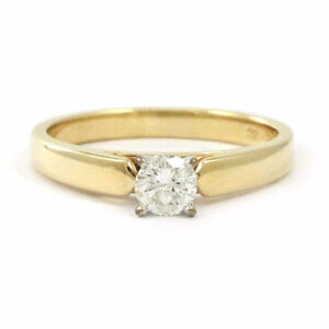 14k Yellow Gold Diamond Solitaire Engagement Ring (0.38 ct) 3682