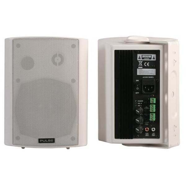 Pulse Active Speakers (Pair) - 40W RMS White