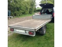 Ifor William flat bed trailer single axle good condition 8'4''x5'2''