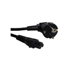 EU (3 PRONG CLOVER LEAF) LAPTOP POWER LEAD CORD / CABLE for Laptop Adapter 2 pin