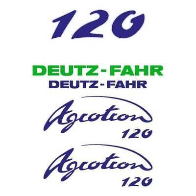 Deutz-fahr Agrotron 120 Tractor Decal Aufkleber Sticker Set