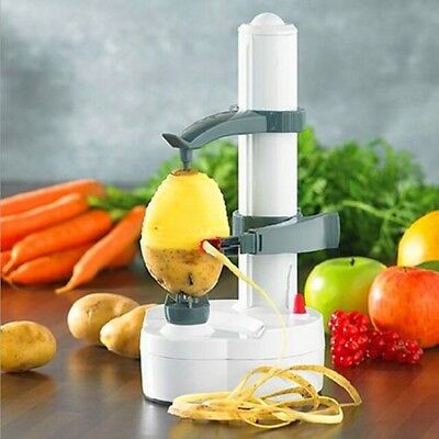 Automatic Electric Potato Peeler Pear Apple Fruit Cutter Slicer Kitchen Utensil