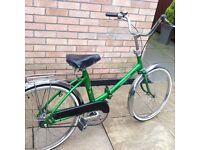 Folding Peugeot green bike