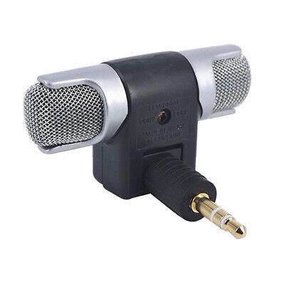Mini 3.5mm Stereo Microfono PC Registrazione Cellulare Studio Karaoke