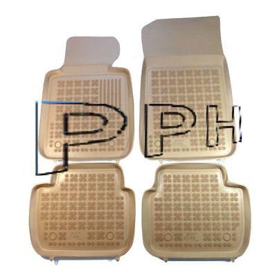Fußmatten für BMW X3 E83 2003-2010 3D Passform Hoher Rand Gummimatten Beige