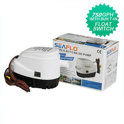 US STOCKING SEAFLO 12V Boat Automatic Submersible Bilge Water Pump 750GPH Auto