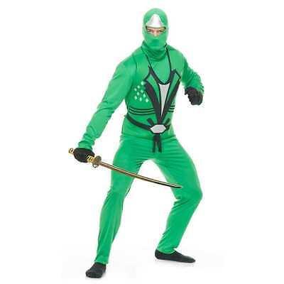 Green Ninja Avenger Costume (NINJA AVENGER SERIES II JADE GREEN MENS COSTUME Adult XL)
