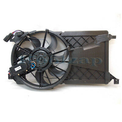 04-09 Mazda3 Non-Turbo Radiator A/C Condenser Cooling Fan Motor Assembly Shroud