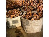 1 tonne bag of seasoned logs £40