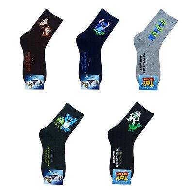 5 Pairs Cartoon Sock Toy Story Buzz Stitch Alien Character Socks MADE IN KOREA