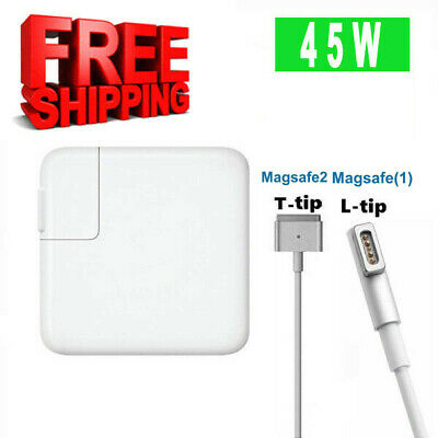 45W L-tip/T-tip AC Power Adapter Supply Charger For Macbook AIR Pro Magsafe1/2