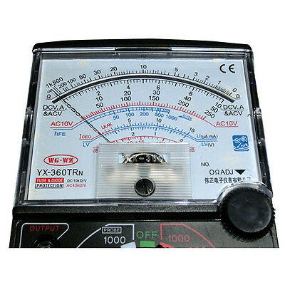 Yx-360trn Fuse Diode Protection Analog Multimeter Meter Instrument Free Shipping