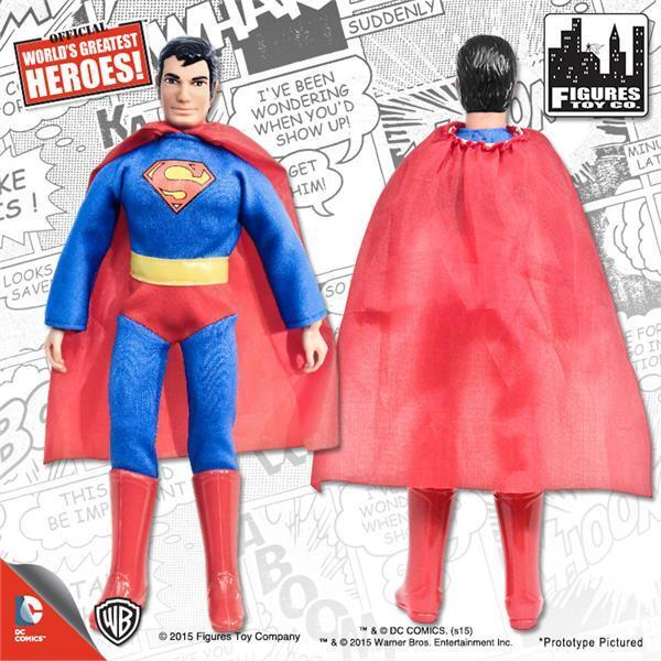 SUPERMAN JUSTICE LEAGUE OF AMERICA 8 INCH  FIGURE New  in Polybag loose