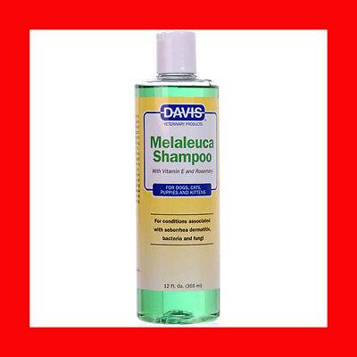 Tea Tree Medicated Shampoo - Davis Melaleuca Medicated Shampoo 12 oz Tea Tree Oil Fungi Bacteria Seborrhea