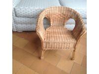 Childs wicker chair