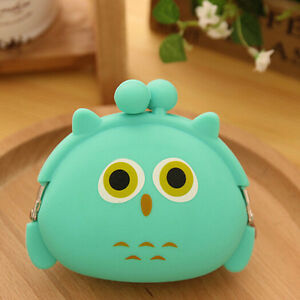 Hot Wallet Kawaii Womens'/Girls' Gift Cartoon Animal Silicone Jelly Coin Purse