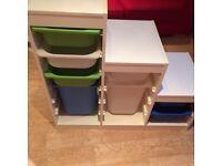 Ikea storage unit is its ten boxes