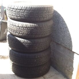 Land Rover alloys c/w as new Prestivo PV-X1 tyres, 215/65 . 5 stud , 16 inch wheels