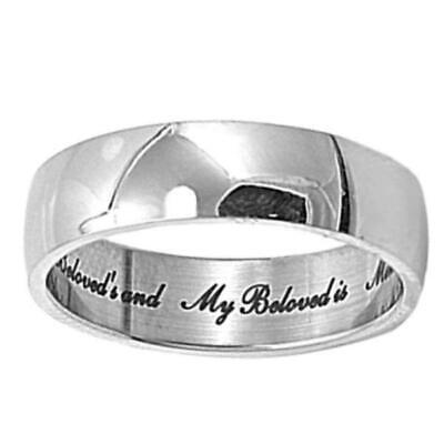 Beloved: 6mm Classic Love Engraved Stainless Steel Wedding Band