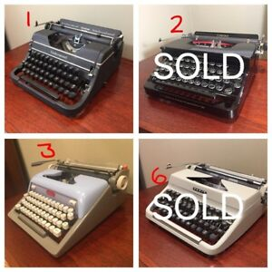 Typewriter Collection - Vintage - Portable - Assorted Prices