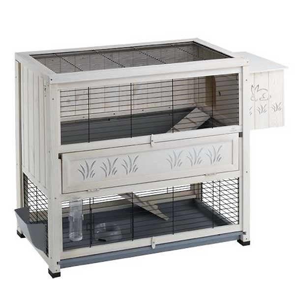 Amazing rabbit indoor cage double storey ferplast for Amazing rabbit cages