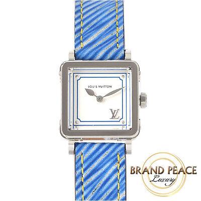 Louis Vuitton and please PM SS / leather belt women's quartz Q32M0B