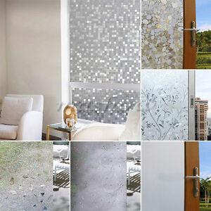 Waterproof Frosted Privacy Bedroom Bathroom Window Glass Film Sticker 45x100cm Ebay
