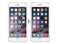 iphone lcd screen replacement repair fix clapham wimbledon canary wharf | 7 days a week