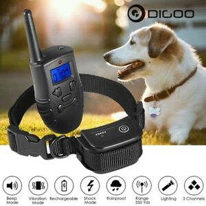 Dog Training Collar Rechargeable Beep Vibration and Shock