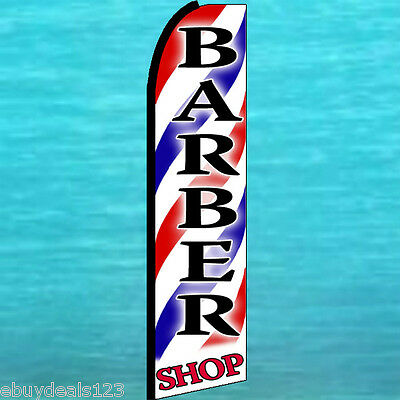 Barber Shop Swooper Flag Tall Advertising Sign Flutter Feather Swooper Banner