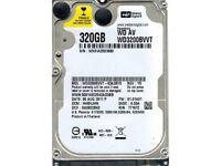 western digital 320gb hard drive