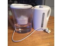 Water filter jug and water boiler kettle