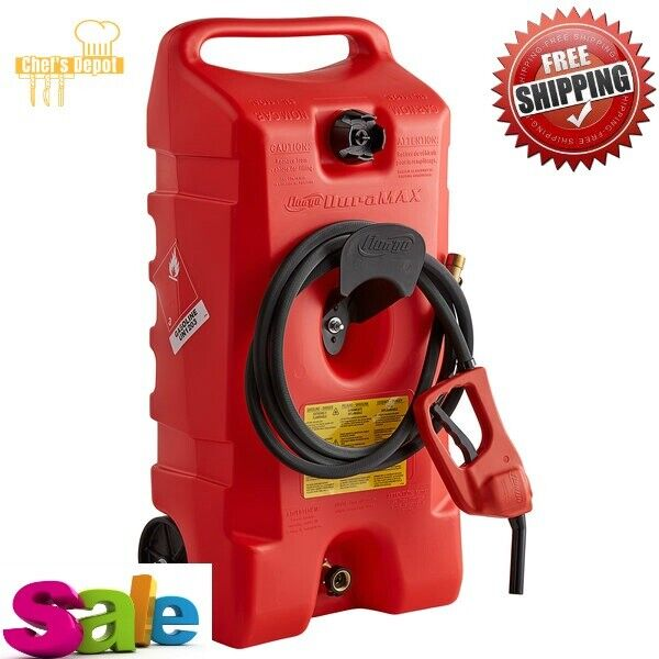 Red 14 Gallon Wheeled Gasoline Container Scepter 6792 Duramax Free Shipping New