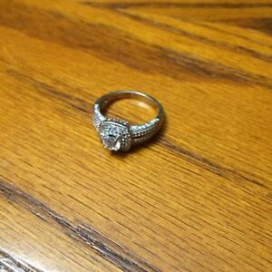 Cz ring. Stirling silver